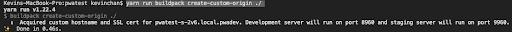 SSL certificate created